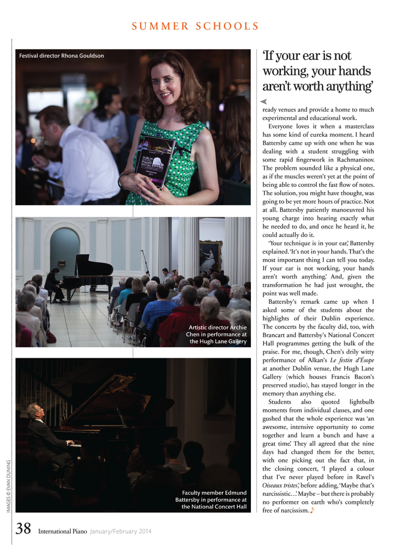 International Piano Magazine Review of DIPF